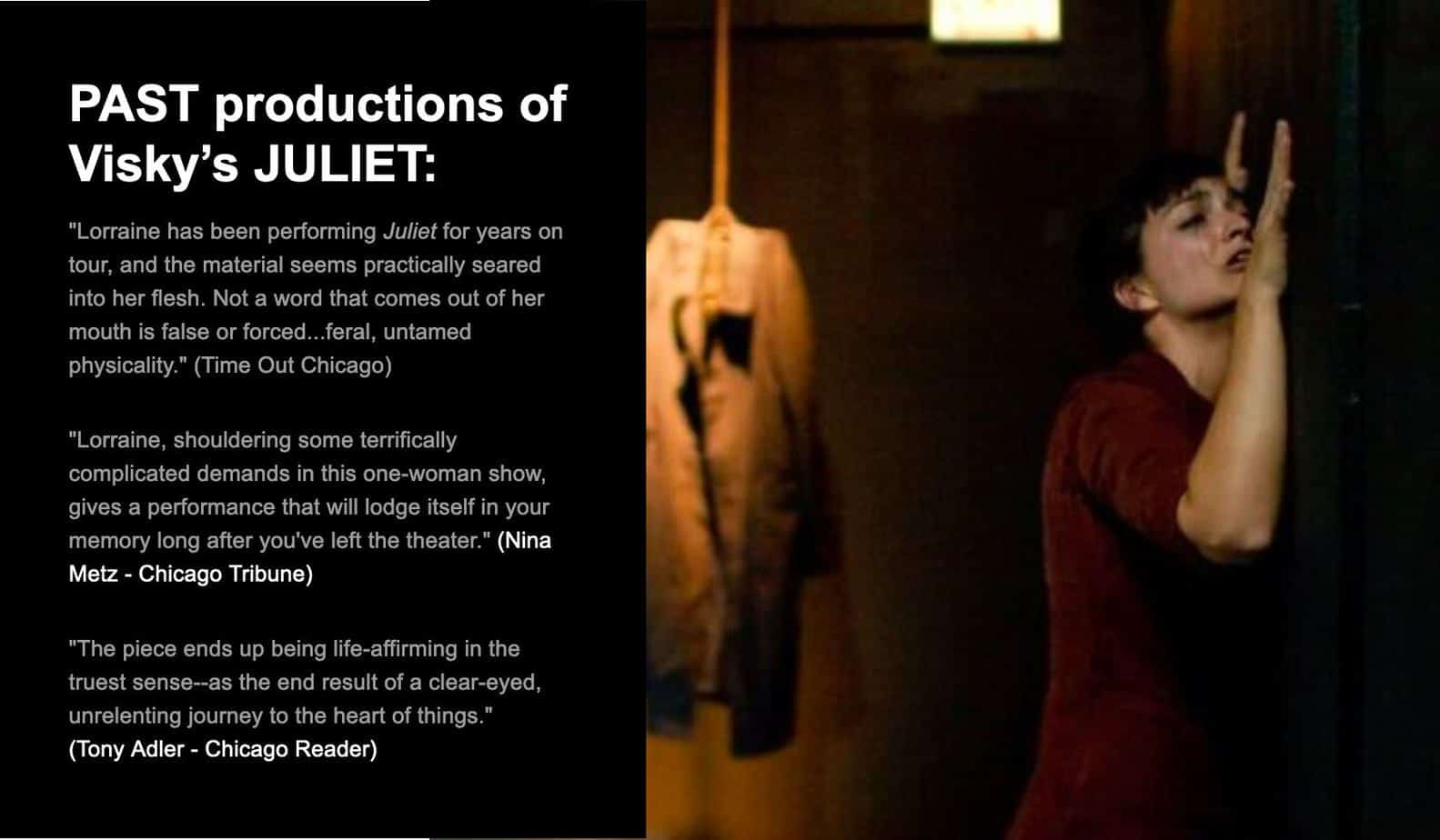 about Performing Juliet