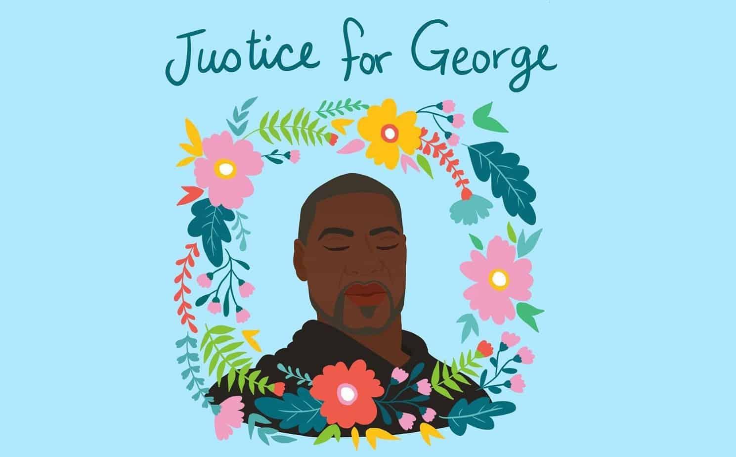 A portrait of George Floyd by Shirien Damra