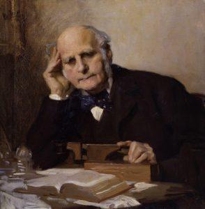 A portrait of Sir Francis Galton, founder of modern eugenics.