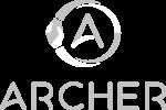 archer logo gray and white